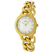 DKNY Chambers White Yellow Gold-tone Ladies Watch NY2217