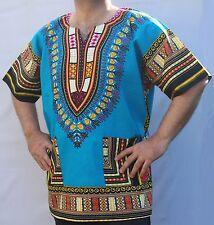 Dashiki Africana * Hippie Mexicano * Poncho Tribal Camisetas 100% Algodón Colores Brillantes
