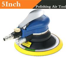 """5"""" Car Body Sander Air Polishing Machine Pneumatic Air Polisher Tool Kit"""