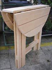 MESA PLEGABLE - madera maciza, 80 cms. diámetro. Repliement de table et jardin