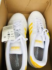 Adidas Women White And Yellow Sneakers