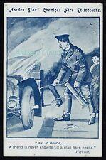 c1905 Extincteurs Harden Star Chemical Fire Extinguisher Advertising Postcard