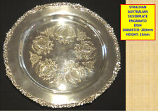 VINTAGE STRACHAN SILVER PLATED SHEFFIELD REPRODUCTION TRAY/DISH