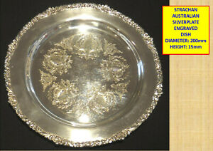 VINTAGE STRACHAN SILVER PLATED SHEFFIELD REPRODUCTION TRAY/DISH^