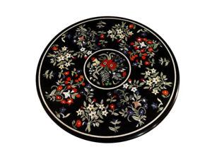 "48"" Marble Center Table Top Pietra Dura Inlay Handicraft Work home decor"