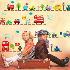 Zoo Animals Truck Bus Car Wall Sticker Removable Decals Kids Nursery Room Decor