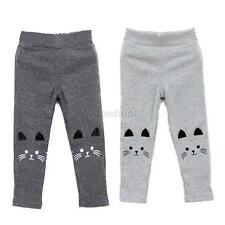 Kids Girls Boys Cartoon Pattern Legging Winter Warm Thick Long Pants Trouser Hot