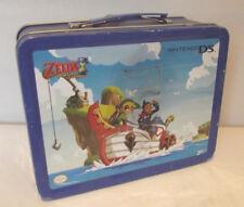 Vintage Legend of Zelda Phantom Hourglass Metal Blue Lunch Box Nintendo DS