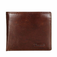 Genuine Leather Mens Wallet ZIPPER Coin Purse Vintage Retro Credit/ID Bifold USA