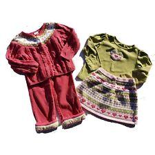 Gymboree Shirt Sweater Skirt Pants Size 3T Gingerbread Girl Vintage Corduroy