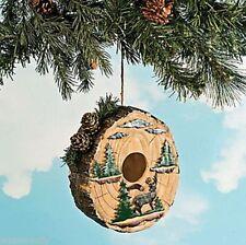 Northwood Woodland Log Deer Pine Tree Stump Birdhouse Yard Outdoor Decor Accent