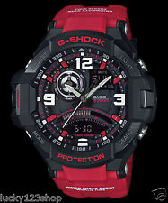 GA-1000-4B Red  Casio Watch G-Shock Analog Digital Compass 200M-WR Resin Band