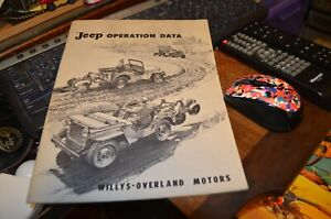 ORIGINAL Jeep CJ 2A Operation Data Manual for Accessories Willys-Overland Motors