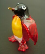 Glass PENGUIN Curio Display Glass Ornament Glass Animal Antarctica Bird Wildlife