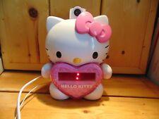 Hello Kitty Clock Radio AM/FM Projection LED Battery Backup Snooze Alarm