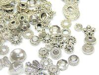 Zwischenteile Silber Perlen Spacer Metallperlen 50g Schmuck Basteln M468