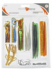 5515 South Bend Bass Assortment, 42 Piece  - Worms, Shad, hooks and worm weights