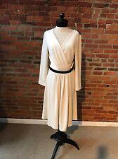 Diane Von Furstenberg Seduction Wrap Dress NWT $580.00 White Wool Lace 14