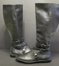 "SAKS FIFTH AVE BLACK LEATHER 17""  EQUESTRIAN RIDING BOOTS PRADA MCQUEEN SIZE 9"