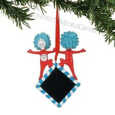 Dept 56 2017 Dr. Seuss Thing 1 & 2 Personalized Ornament #4057501 New Free Shp