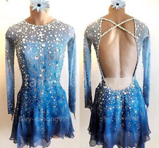Ice Figure Skating Dress Baton Twirling Dance Dress Adult Girl Competition p811
