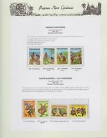 1971 PNG PAPUA NEW GUINEA Primary Industries Native Dancers xmas STAMP SET K-426