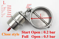 Stainless Steel 60mm Exhaust Control Valve Set boost Actuator CLOSED Style