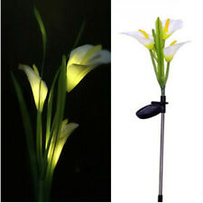 3 LED Solar Powered Lily Stake Garden Yard Light Outdoor Landscape Decoration