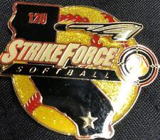 C.A. Strikeforce GIRLS  FASTPITCH SOFTBALL PIN BADGE Y1