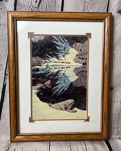 Bev Doolittle Season Of The Eagle Vtg Framed & Matted Print Native American Art