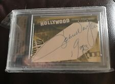 2011 FAMOUS FABRICS INK JOHN WAYNE CUT AUTOGRAPH  1/1 HOORAY FOR HOLLYWOOD RARE