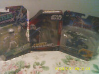 BUNDLE JOB LOT OF THREE ACTION FIGURES STAR WARS CAPTAIN AMERICA TURTLES FREE DE