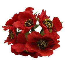High Quality Silk Poppies Camellia 5cm 60pcs/lot Artificial Flowers Corn PO U1n5 Red