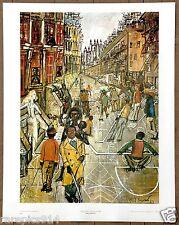 Harlem Street Scene Philip Evergood Original 1st Print Ltd Ed 1960 Lithograph