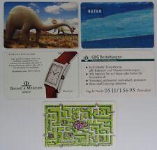 Telefonkarten aus Sammlung Set#6 Baume & Mercier Dinosaurier GBG Bestattungen