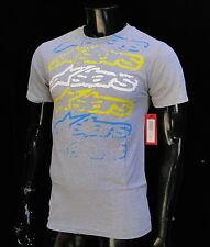 Alpinestars Racing Motocross Garbled Gray Atletic mens T shirt size Small