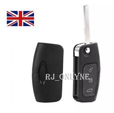 NEW 3 BUTTON UNCUT FLIP REMOTE KEY FOB For FORD MONDEO/FOCUS/CMAX/GALAXY A08