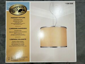 Hampton Bay Pendant Fixture Light Brushed Nickel Finish 530635