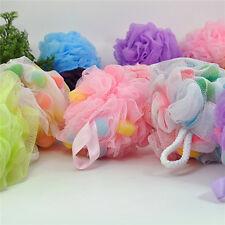 4pcs Large Thickened Colorful Shower Bath Balls Bathing Mesh Puff Scruber Random