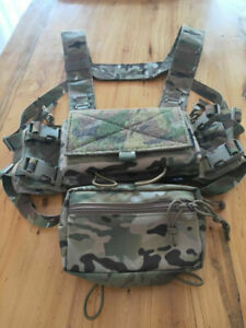 1 SET 500D Tactical Hunting SS Micro Fight Chassis MK3 MK4 Modular Chest Rig