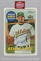 2019 Topps Archives Signature Series Franklin Barreto Oakland Athletics 42/53