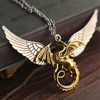 Steampunk Necklace Gothic Style Pendants Domineering Dragon Angel Wing Medieval
