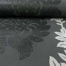 Erismann Damask Pattern Wallpaper Leaf Glitter Motif Embossed Vinyl 4628-15