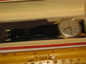 vintage wristwatch men's watch,Solvil et Titus Geneve Model 5898,original box,,,