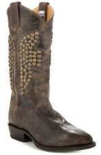 Women's Shoes FRYE BILLY HAMMERED STUD Tall Western Boots Leather Chocolate 5.5