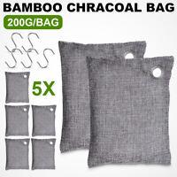 5x Bamboo Charcoal Bag Odor Deodorizer Air Purifying Freshener 200g Home Car