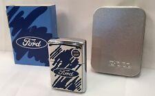 Zippo Lighter Sealed Ford Blue Splash Raised Emblem 200F .225 A 2002