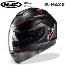 CASCO MODULARE APRIBILE MOTO HJC IS-MAX 2 II DOVA MC1SF NERO/GRIGIO/ROSSO OPACO