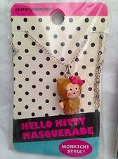 Sanrio Monkichi Necklace Hello Kitty Masquerade