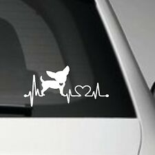 CHIHUAHUA LOVER HEARTBEAT SELF ADHESIVE VINYL CAR DECAL GRAPHIC STICKER PET DOG